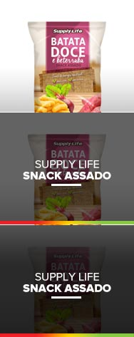 SNACK DE BATATA DOCE E BETERRABA - SUPPLY LIFE
