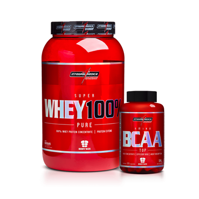 Combo Super Whey + Bcaa Top - Integralmédica