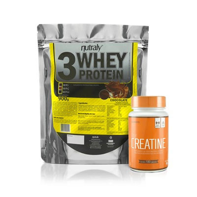 Combo 3 Whey + Creatina - Nutrally e Elements