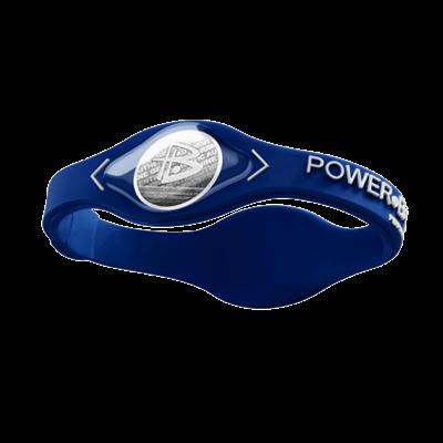 Pulseira Power Balance em Silicone (Azul/Branco) - Power Balance
