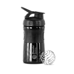 Blender Bottle SportMixer 590ml (Preta) - Blender Bottle