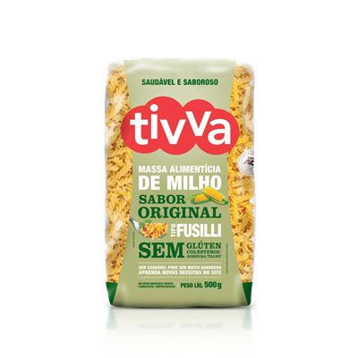 Macarrão Fusilli de Milho - Tivva