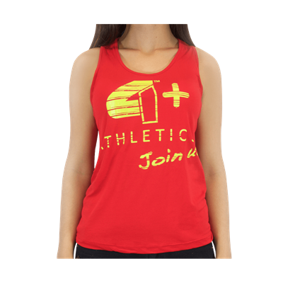 Camiseta Regata Feminina Vermelha - 4+ Athletics