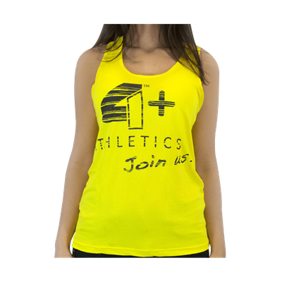 Camiseta Regata Feminina Amarela - 4+ Athletics