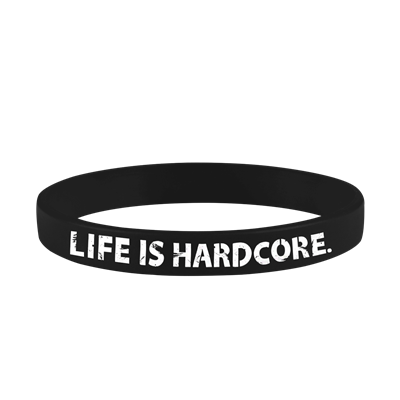Pulseira Black Life Is Hardcore - Athletica Nutrition
