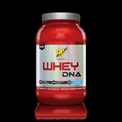 Whey DNA™ é uma proteína em pó versátil que consiste 100% de fontes de proteína (whey protein) isolada e concentrada por dose. Fonte completa de proteínas, também fornece todos os aminoácidos essenciais (BCAAs) para apoiar a recuperação muscular após um treino intenso.