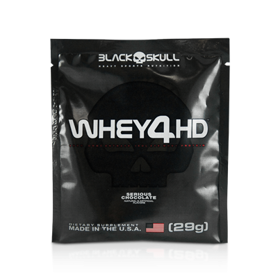 Whey 4HD (Dose Única) - Chocolate - Black Skull