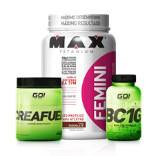 Combo Femini Whey + BCAA + Creatina - Multimarcas