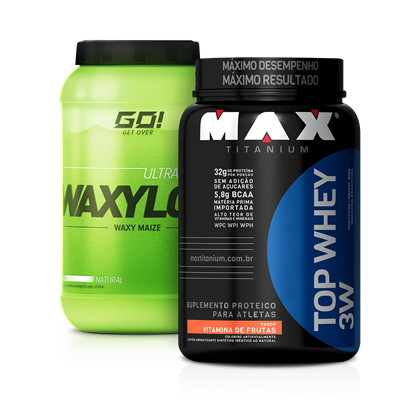 Combo Top Whey 3W + Waxy Maize - Multimarcas