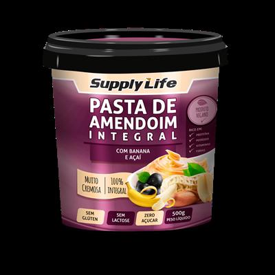 Pasta de Amendoim c/ Banana e Açaí - Supply Life
