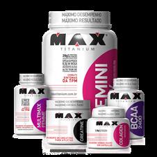 Combo Feminino Massa Muscular - Max Titanium