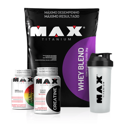 Combo Whey Blend 2000g + Imunidade - Max Titanium