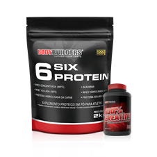 Combo 6 Six Protein (2000g) + Creatina - BodyBuilders