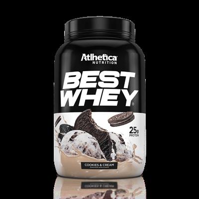 BEST WHEY é um blend de proteínas WPC (whey protein concentrado), WPI (whey protein isolado) e WPH (whey protein hidrolisado) que oferece em cada porção, 25 g de proteínas de alto valor biológico. Proteína ideal para aumento e/ou manutenção de massa muscular.