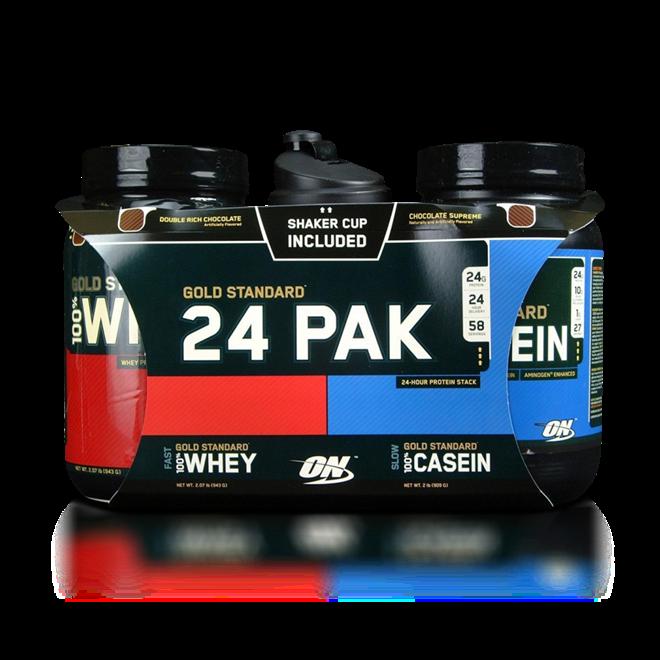 Protein Shaker Optimum Nutrition: Encontre Kit Gold Standard 24 PAK (Whey Protein 943g