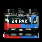 Kit Gold Standard 24 PAK (Whey Protein 943g + Casein 909g + Coqueteleira Shaker) - Optimum Nutrition