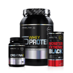 Combo 4 (Monster Extreme Black+Creatina+Ultimate 5 Whey) - Probiótica