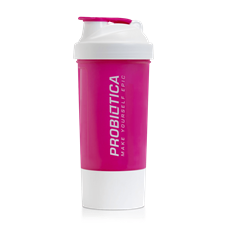 Coqueteleira Branca/Rosa - Probiótica