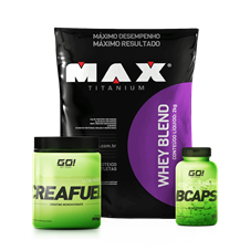Combo Whey Blend + BCAA + Creatina - Multimarcas