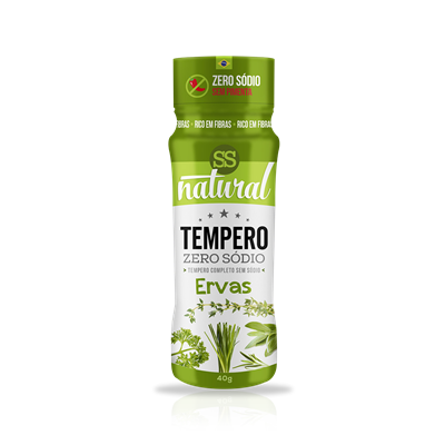 Tempero Zero Sódio da SS Natural é ideal para quem busca um preparo de refeição mais saudável. Em 7 deliciosos sabores para você subir de nível na cozinha!