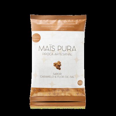 Pipoca Artesanal Sabor Caramelo e Flor-de-Sal - Mais Pura
