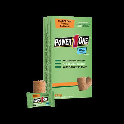 1ff675bed Paçoca Rolha Vegana (Caixa 24 und   432g) Power One - Loja do Suplemento