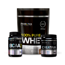 Combo 100% Whey Pouch - Probiótica