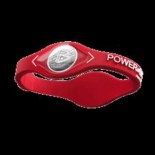 Pulseira Power Balance em Silicone (Vermelha/Branco) - Power Balance