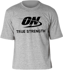 Camiseta Cinza ON - Optimum Nutrition