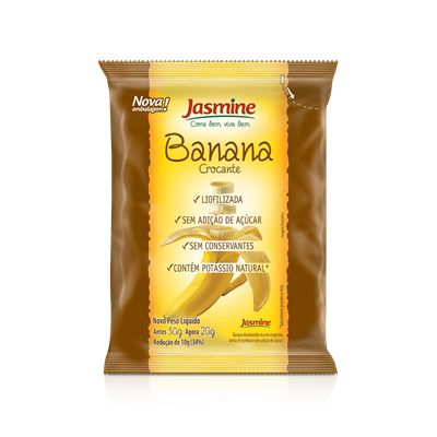 Banana Crocante Liofilizada - Jasmine