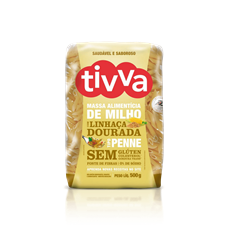 Macarrão Penne de Milho com Linhaça Dourada - Tivva