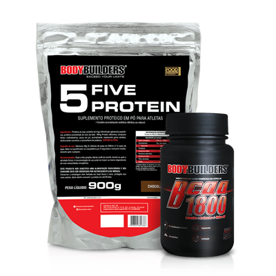 Combo Five Protein (2000g) + BCAA 1800 (120 Caps) - BodyBuilders