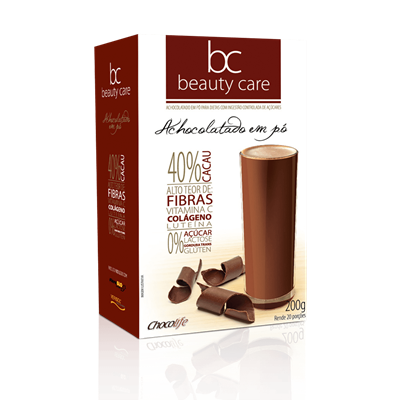 Achocolatado em pó Beauty Care - ChocoLife