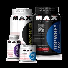 Combo Massa Top + Recuperação - Max Titanium
