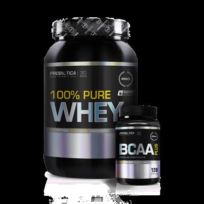 Combo 100% Whey Protein - Probiótica