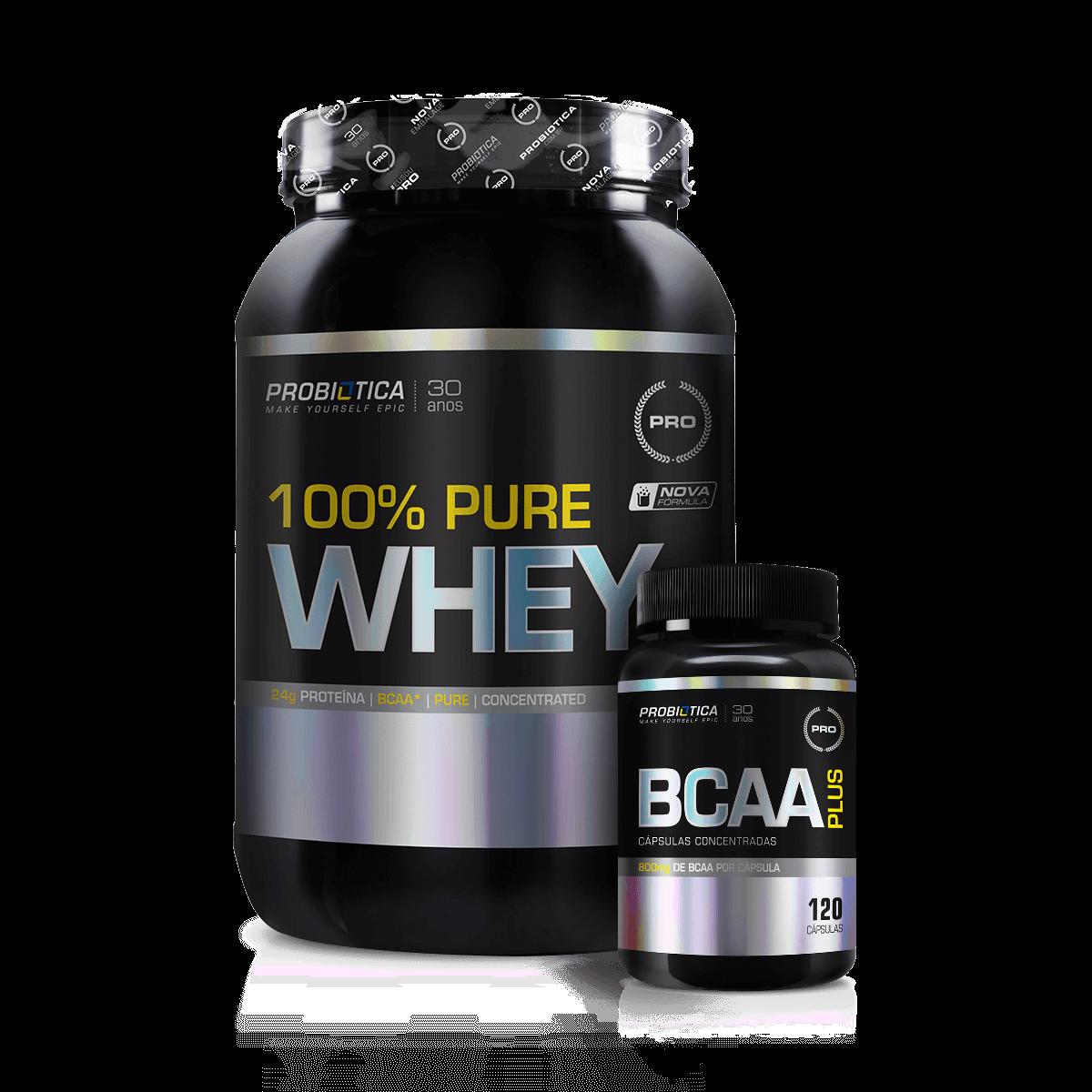 8ae11b881 Combo 100% Whey Protein Probiótica - Loja do Suplemento