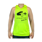 Camiseta Regata c/ Capuz Amarelo Neon - 4+ Athletics