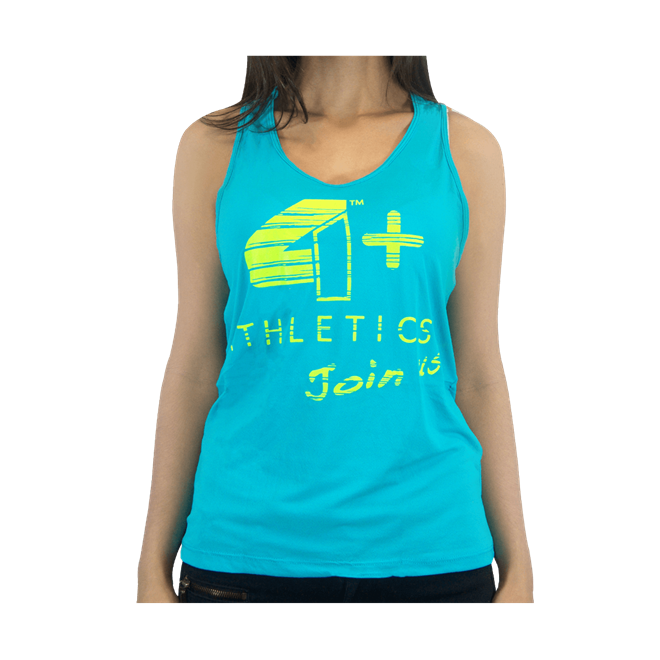 Camiseta Regata Feminina Azul - 4+ Athletics 5f8e2faf3ac
