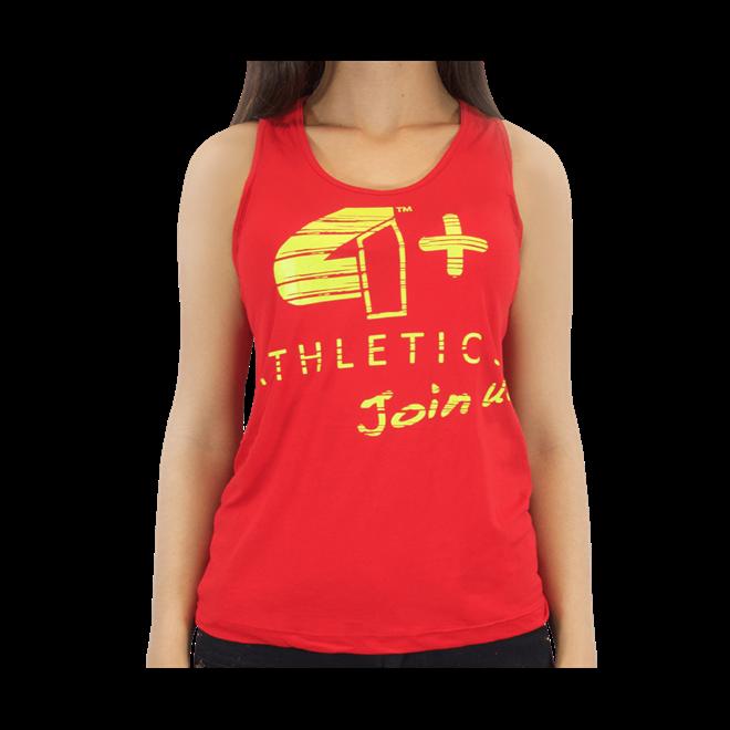 c470ad0ddf9cc Camiseta Regata Feminina Vermelha 4+ Athletics - Loja do Suplemento