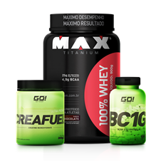 Combo Whey 100% + BCAA + Creatina - Multimarcas