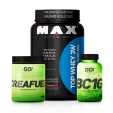 Combo Top Whey 3W + BCAA + Creatina - Multimarcas