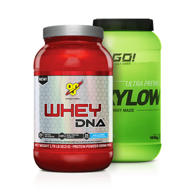 Combo Whey 100% DNA + Waxy Maize - Multimarcas