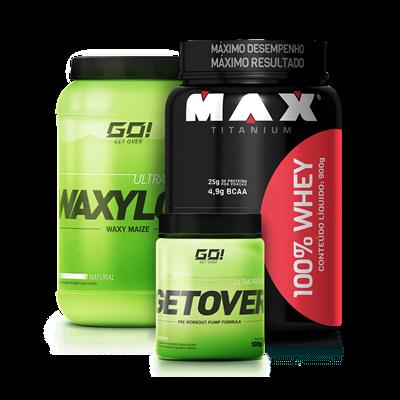 43a1e782a Combo 100% Whey Protein + Waxy Maize + Pré-Treino - Multimarcas