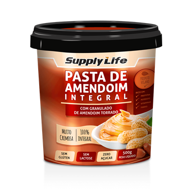 Pasta de Amendoim c/ Granulado - Supply Life