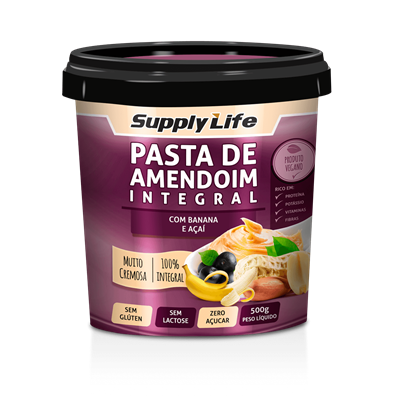 Pasta de Amendoim c/ Banana e Açaí - Supply Life